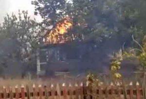 Масштабный пожар в Макеевке 3 сентября 2020 года