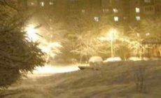 Макеевку занесло снегом